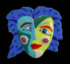 "fused glass wall piece, ""Picasso Drives Women Crazy!"""